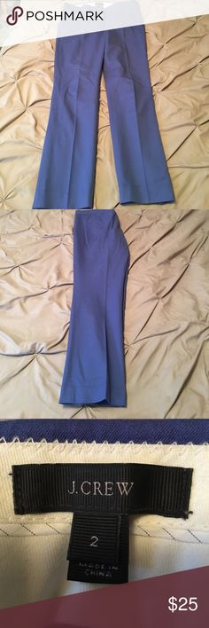 Blue J. Crew dress pants Beautiful blue J.Crew dress pants. Perfect for work! Shoes available in a separate listing. Bundle and save for a great deal! J. Crew Pants
