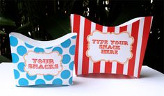 Circus Carnival Party Snack Boxes