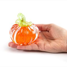 Paperweight pumpkin, Transparent orange. I make everything in Corning New York. This is our new small design perfect for the glass pumpkin collector looking to add some variation to their fall display. This is a great Gift for mom, Fall decoration, Fall wedding gift, Anniversary Gift, Coworker gift, gift for grandma, fall birthday gift, pumpkin decoration, or just a nice piece to add to your collection. #glasspumpkin #falldecor #paperweight #blownglass #artglass #haloweendecor #thanksgiving Small Pumpkins, Glass Pumpkins, Thanksgiving Decorations, Halloween Decorations, Corning Museum Of Glass, Autumn Display, Fall Gifts, Fall Birthday, Great Gifts For Mom