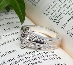 Lovely Vintage Solid Silver Spoon Ring English Sterling Silver Ring Flatware Jewelry Cutlery Jewelry