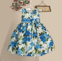 Vestido Infantil Floral Cloé Frete Grátis