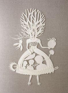 cut paper art by elsa mora