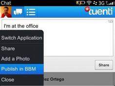 Tuenti Social Messenger para Blackberry con BBM integrado | Menudos Trastos
