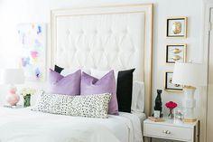 Brighton Keller bedroom featuring custom pillows by Willa Skye Home