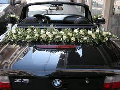 στολισμός γιρλάντα αυτοκινήτου με ελιά.Στολισμός Γάμου   Στολισμός Εκκλησίας   Διακόσμηση Βάπτισης   Στολισμός Βάπτισης   Γάμος σε Νησί - Παραλία.