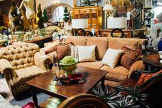 This over sized arm chair and sofa look so cozy. They would be great to warm up your living room. Find these pieces at Avery Lane in Scottsdale.