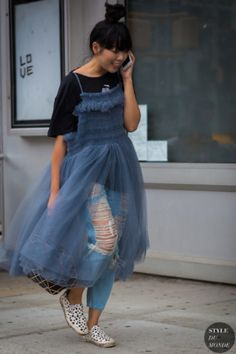 Susie Lau Style Bubble Street Style Street Fashion Streetsnaps by STYLEDUMONDE Street Style Fashion Photography