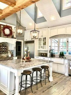 Best Rustic Farmhouse Kitchen Cabinets in List Farmhouse Kitchen Cabinets, Farmhouse Style Kitchen, Modern Farmhouse Kitchens, Kitchen Cabinet Design, Home Decor Kitchen, Country Kitchen, Interior Design Living Room, Rustic Farmhouse, Kitchen Ideas