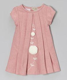 Pink Pom-Pom dress - toddler