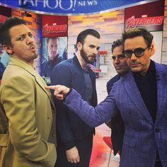 Jeremy Renner, Chris Evans, Mark Ruffalo, Robert Downey Jr
