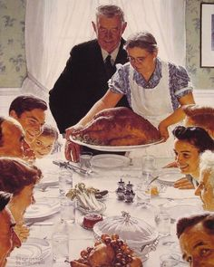 Freedom from Want by Norman Rockwell #art