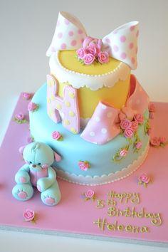 Made by Deborah Hwang Cakes. Cake Wrecks - Home Baby Cakes, Baby Shower Cakes, Gateau Baby Shower, Cupcake Cakes, Mini Cakes, Cake Wrecks, Pretty Cakes, Cute Cakes, Polka Dot Cakes