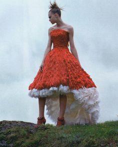 """ Zuzana Gregorova wearing Alexander McQueen Autumn/Winter 2008 by Steen Sundland for Elle UK, November 2008 """