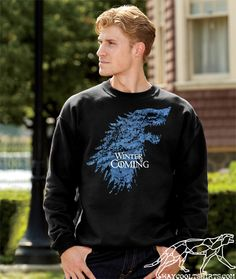 Game of Thrones SWEATSHIRT Unisex for Men & Women Winter IS STILL Coming, Stay Warm with this Crewneck Cotton Sweater by waycooltshirts on Etsy https://www.etsy.com/listing/158212722/game-of-thrones-sweatshirt-unisex-for