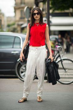 July 16 2012 Paris Street Style - Jacquelyn Jablonski Street Style Paris 2012 - ELLE