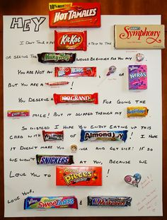 The Staus House: Dave's Candy Card/Poster