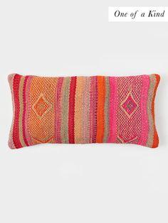Peruvian Andes Stripe Soft Wool Lumbar Pillow | DARA Artisans