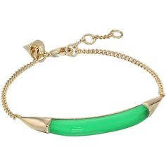Alexis Bittar ID Curb Chain Bracelet (Opaque Lime Clear) Bracelet (345 QAR) ❤ liked on Polyvore featuring jewelry, bracelets, green, tri color bangles, multi color jewelry, colorful bangles, lime green jewelry and alexis bittar bangle