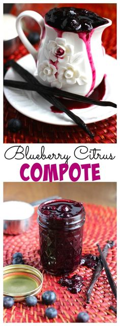 Sweet blueberry compote with fresh vanilla beans and an orange twist. Perfect for pouring over pancakes, waffles or vanilla ice cream!
