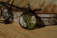terrarium necklace wild fern necklace real flower by ZokaKurylov