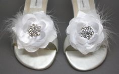 wedding wedges with flowers