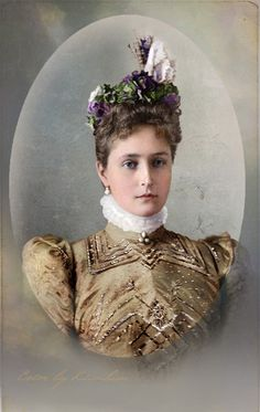 Princess Alix of Hesse (the future wife of Tsar Nicholas II of Russia)