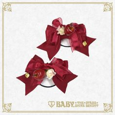 Baby, the Stars Shine Bright Pomme Rouge ribbon hair ties