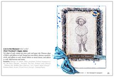 From the Spring 2014 Stamper's Sampler--A card I made with stamping images on fabric.