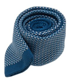- Knitted Summer Solid - Blues (Skinny) Ties