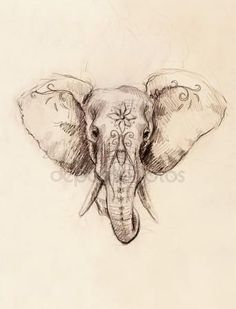 Elephant tattoo Stock Photos Royalty Free Elephant tattoo Images Informations About Elephant tattoo Tattoo Drawings, Body Art Tattoos, Pencil Drawings, Sleeve Tattoos, New Tattoos, Diy Tattoo, Tattoo Foto, Wolf Tattoos, Animal Tattoos