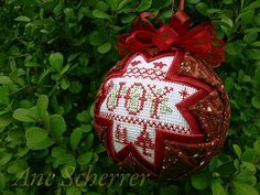 """For Needlework Smalls lovers all over. PLEASE post your Needlework Smalls finishes. Let's make this the largest source of Smalls """"Inspiration"""" on the net. Please make sure your Smalls are in a finished form. 50 Diy Christmas Decorations, Folded Fabric Ornaments, Quilted Christmas Ornaments, Christmas Sewing, Christmas Cross, Holiday Crafts, Christmas Baubles, Christmas 2016, Christmas Ideas"""