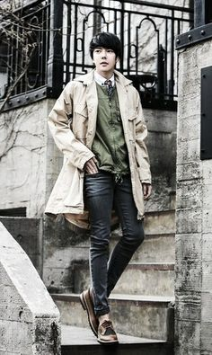 Park Tae Jun.   A guy's look for Spring.   -Lily #ulzzang #model