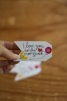| I love You To The Moon & Back Gift Tag via BEtimeless |