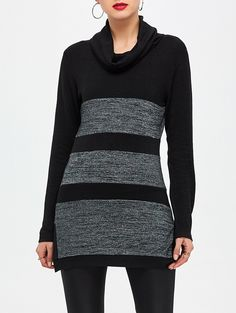 SHARE & Get it FREE | Cowl Neck Color Block Tunic KnitwearFor Fashion Lovers only:80,000+ Items • New Arrivals Daily • Affordable Casual to Chic for Every Occasion Join Sammydress: Get YOUR $50 NOW!