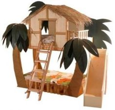 Kids' treehouse bed!