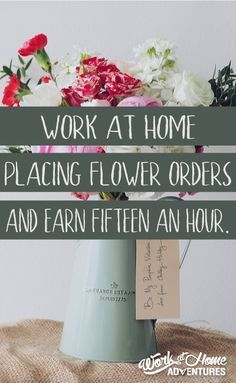 Blooms Today hires work at home contractors.