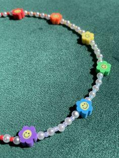 Kids Jewelry, Cute Jewelry, Jewelry Crafts, Beaded Jewelry, Handmade Jewelry, Beaded Necklace, Beaded Bracelets, Pulseras Kandi, Beaded Bracelet Patterns