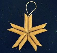 Star decoration finished with pasta