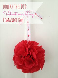DIY Valentines Decoration: Hearts and Button Hanging Decoration