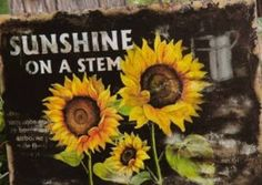 breathtaking 23 Creative DIY Garden Sign Ideas and Projects Sunflower Garden, Sunflower Art, Sunflower Patch, Sunflower Crafts, Sunflower Kitchen, Sunflower Fields, Country Wall Decor, Country Crafts, Wall Plaques