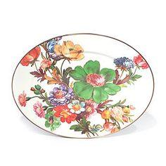 MacKenzie-Childs, Flower Market   oval platter.