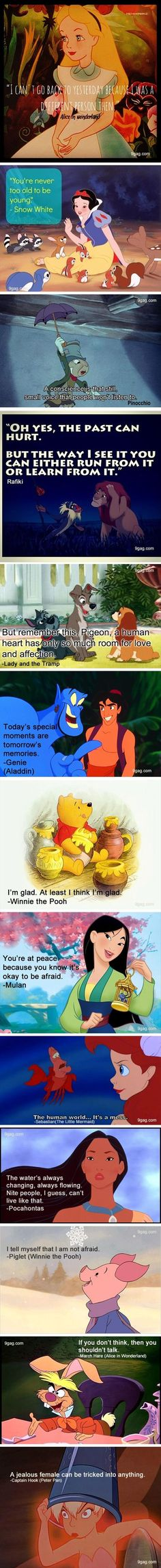 Some awesome Disney character quotes...