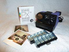 Purple AutoFocus Polaroid Sonar OneStep  With by UpcycledClassics, $112.00