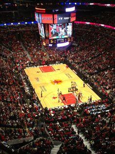 The Chicago Bulls and Chicago Blackhawks Stadium.