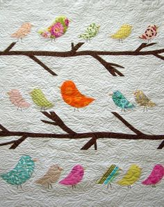 Birds of a Feather--Crib Size Quilt.
