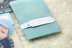 Hospital Bracelet Baby Announcement by Sarah Jane Winter via Oh So Beautiful Paper (3)