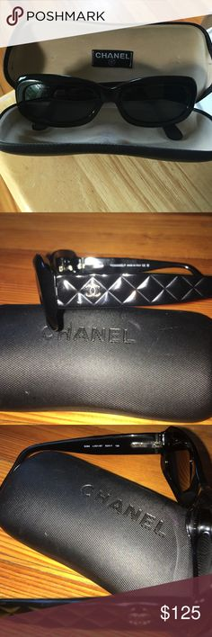 Authentic CHANEL® Polarized Sunglasses 5094 501/87 Excellent pre owned condition. Not one scratch in sight. They look brand new.. Comes with Chanel® case and cleaning cloth. All black with quilted detail on arms. Silver logo on arms. Very dark lenses, cannot see your eyes through them. 5094 C501/87 53▫️17 135 CHANEL Accessories Glasses