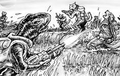 GURPS Aliens | Art Excerpts from GURPS Traveller Alien Races 4 Types Of Science, Star Wars Episode Iv, Alien Races, Star Wars Rpg, World Of Fantasy, Alien Creatures, Alien Art, Cartography, Outer Space