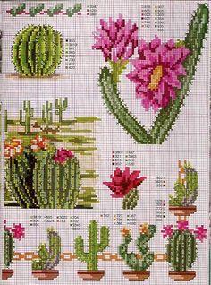 Borduurpatroon Bloemen - Planten *Cross Stitch Flowers - Plants ~Cactus~