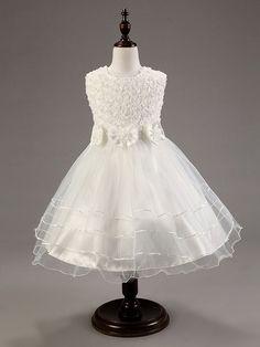 Girls Princess Lace Floral Dress